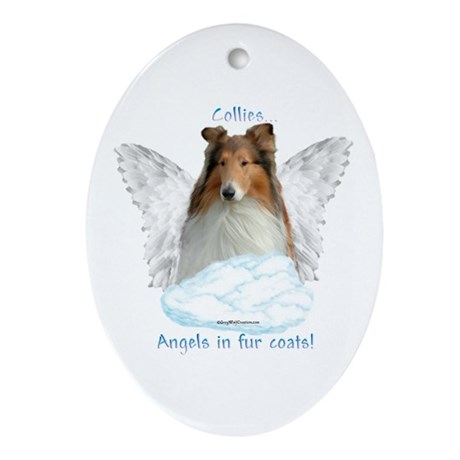 Collie 5 Oval Ornament