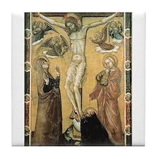 Cute Crucifixion Tile Coaster