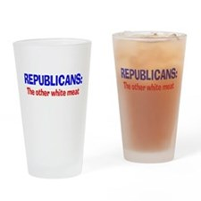 The Other White Meat Drinking Glass