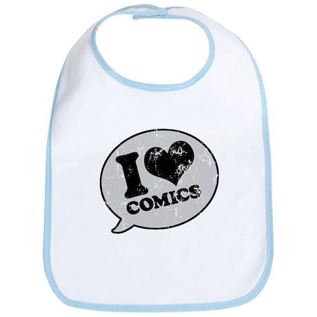 I Love Comics Bib