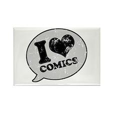 I Love Comics Rectangle Magnet
