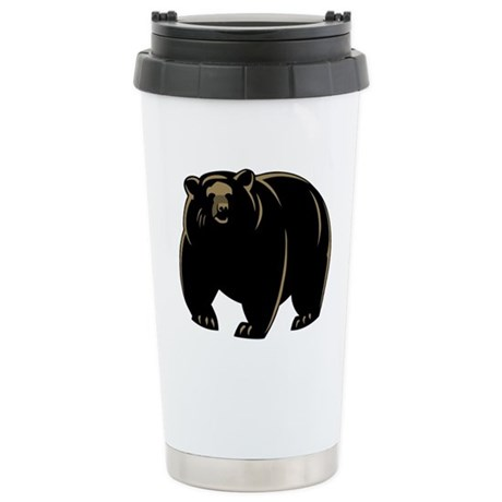 Bear Stainless Steel Travel Mug