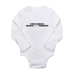 Hyphens in Obsessive Compulsi Long Sleeve Infant B