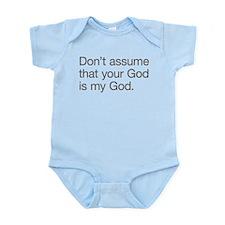 Not My God Infant Bodysuit