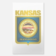 """Kansas Gold"" Sticker (Rectangle)"