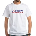 Occupy Voting Booth White T-Shirt