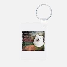 """""""Why God Made Dogs"""" Samoyed Keychains"""