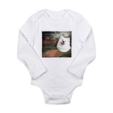 """""""Why God Made Dogs"""" Samoyed Onesie Romper Suit"""