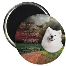 """Why God Made Dogs"" Samoyed Magnet"