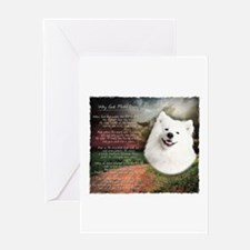 """Why God Made Dogs"" Samoyed Greeting Card"
