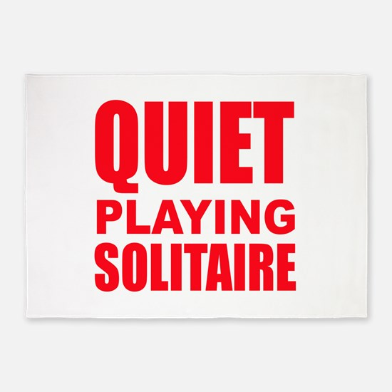 Quiet Playing Solitaire 5'x7'Area Rug