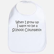 Grow Up School Counselor Bib