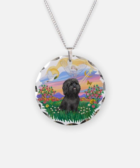Guardian-ShihTzu#21 Necklace Circle Charm