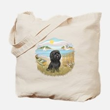 RowBoat-ShihTzu-blk Tote Bag