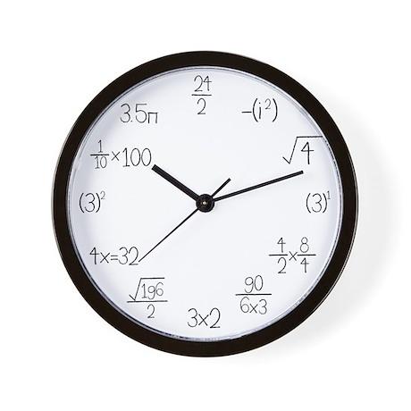 Math Clocks Wall Clock