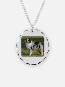 Shetland Sheepdog 9J089D-04 Necklace