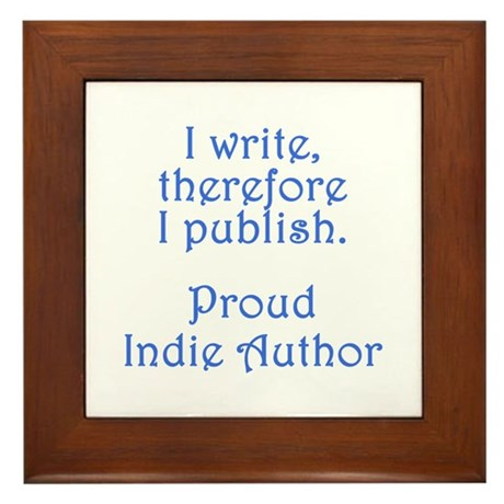 Proud Indie Author Framed Tile