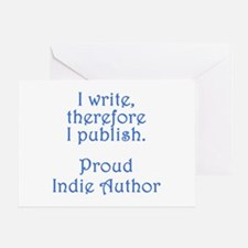 Proud Indie Author Greeting Card