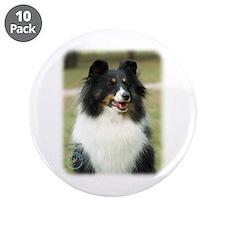 "Shetland Sheepdog 9J089D-19 3.5"" Button (10 pack)"