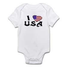 I heart USA Infant Creeper