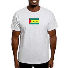 Sao Tome & Principe Ash Grey T-Shirt