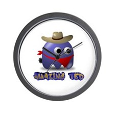 Ted The Cowboy Wall Clock
