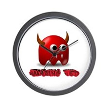 Ted The Little Devil Wall Clock