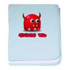 Ted The Little Devil baby blanket