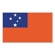 Samoa Rectangle Decal