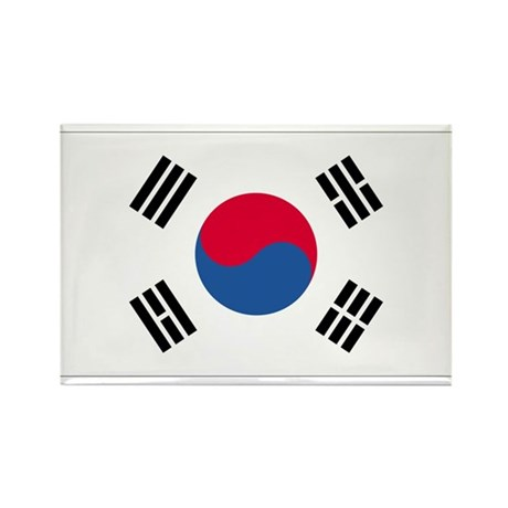 South Korea Rectangle Magnet
