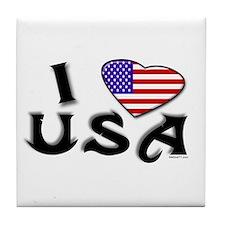 I heart USA Tile Coaster