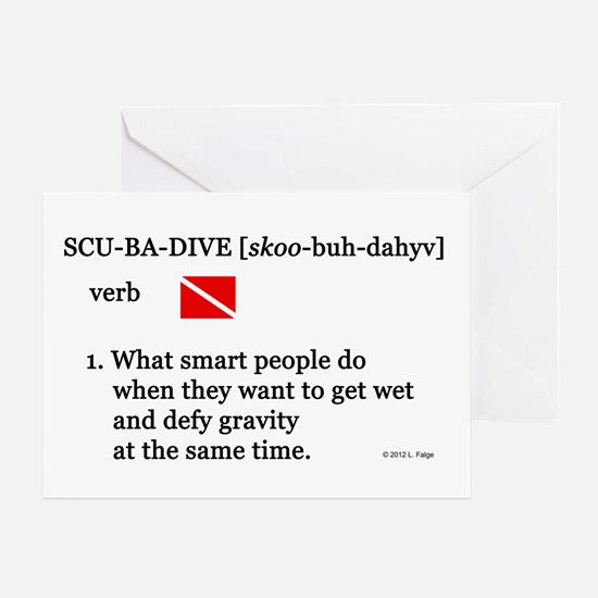 Scuba-Dive Definition Greeting Card