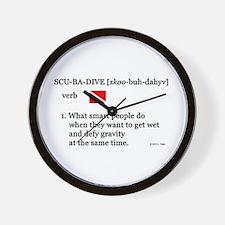 Scuba-Dive Definition Wall Clock