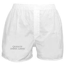 """""""Quiescit Anima Libris"""" Boxer Shorts"""