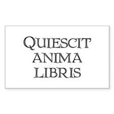 """Quiescit Anima Libris"" Rectangle Decal"