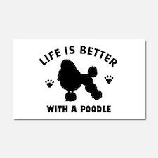 Poodle breed Design Car Magnet 20 x 12