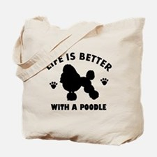 Poodle breed Design Tote Bag