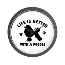 Poodle breed Design Wall Clock