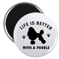 Poodle breed Design Magnet