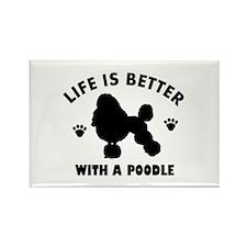Poodle breed Design Rectangle Magnet