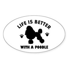 Poodle breed Design Decal