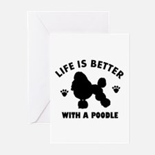 Poodle breed Design Greeting Cards (Pk of 10)
