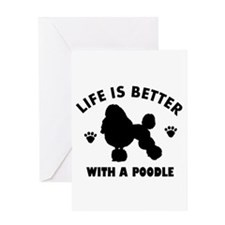 Poodle breed Design Greeting Card