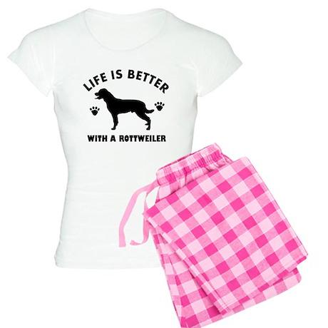 Rottweiler breed Design Women's Light Pajamas