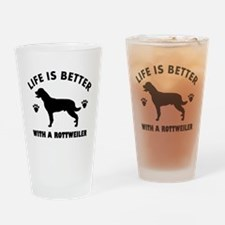 Rottweiler breed Design Drinking Glass