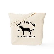 Rottweiler breed Design Tote Bag