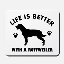 Rottweiler breed Design Mousepad