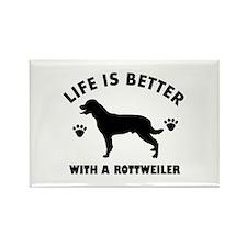 Rottweiler breed Design Rectangle Magnet