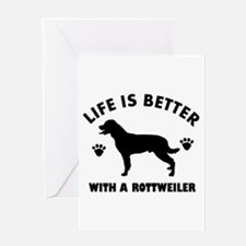 Rottweiler breed Design Greeting Card