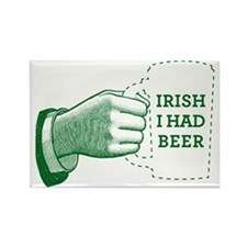 Irish I Had Beer Rectangle Magnet